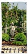 Meditation Garden Beach Towel