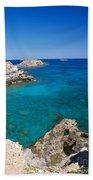 Mediterranean Blue Beach Towel