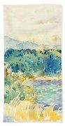 Mediterranean Landscape With A White House Beach Towel