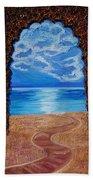 Mediterranean Road.  Beach Towel