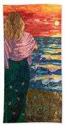 Mediterranean Sunset Beach Towel