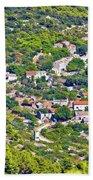 Mediterranean Village On Island Of Vis Beach Towel