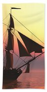 Medusa Sailing Ship Beach Towel