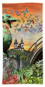 Medusa's Realm At Sunset Beach Towel