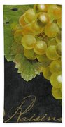 Melange Green Grapes Beach Towel