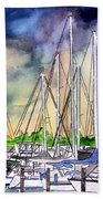 Melbourne Florida Marina Beach Towel