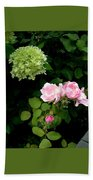 Melody Of Flowers Beach Towel