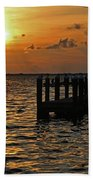 Melting Into Darkness  Beach Towel