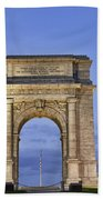 Memorial Arch Valley Forge Beach Towel
