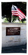 Memorial Day 2017 - Sumner W A Cemetery Beach Towel