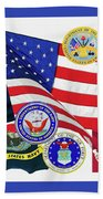 Memorial Day Collage Beach Towel