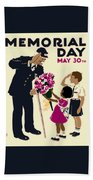 Memorial Day Poster Wpa Beach Towel