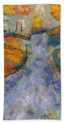 Memories Of Home In Autumn Beach Towel