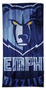 Memphis Grizzlies Barn Door Beach Towel