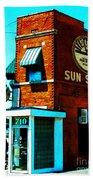 Memphis Sun Studio Birthplace Of Rock And Roll 20160215sketch Beach Towel