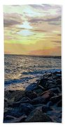 Menauhant Abstracted Sunset Beach Towel