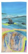 mendocino coast II Beach Towel