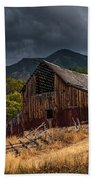 Mendon Utah Barn In Storm Beach Towel by Gary Whitton