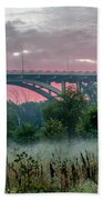 Mendota Bridge Sunrise Beach Towel