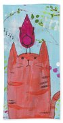 Meow Song Beach Towel