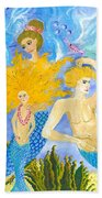 Mer Mum And Comb Beach Towel