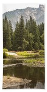 Merced River Yosemite Valley Yosemite National Park Beach Towel