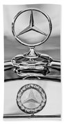 Mercedes Benz Hood Ornament 2 Beach Towel by Jill Reger