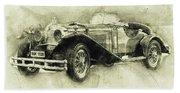 Mercedes-benz Ssk 1 - 1928 - Automotive Art - Car Posters Beach Towel