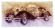Mercedes-benz Ssk 2 - 1928 - Automotive Art - Car Posters Beach Sheet