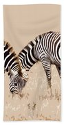 Merging Zebra Stripes Beach Sheet