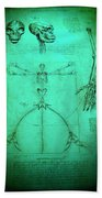 Mermaid Anatomia Beach Towel
