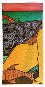 Mermaid And Friends Beach Towel