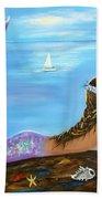 Mermaid Beauty On The Beach Beach Towel