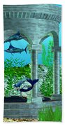 Mermaid Home Beach Towel