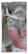 Mermaid In Pink Beach Towel