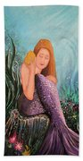 Mermaid Under The Sea Beach Towel