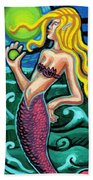 Mermaid With Pearl Beach Towel