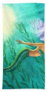 Mermaid's Garden Beach Towel