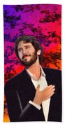Merry Christmas Josh Groban Beach Sheet