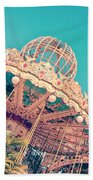 Merry Go Paris Beach Towel