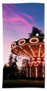 Merry - Go - Round At Sunset Beach Towel