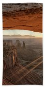 Mesa Arch Sunrise 4 - Canyonlands National Park - Moab Utah Beach Towel
