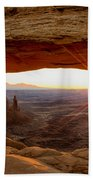 Mesa Arch Sunrise - Canyonlands National Park - Moab Utah Beach Towel by Brian Harig