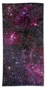 Messier 52 And The Bubble Nebula Beach Towel