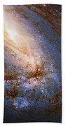 Messier 66 Galaxy Enhanced Beach Towel