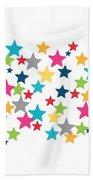 Messy Stars- Shirt Beach Towel by Linda Woods