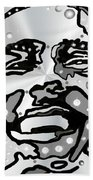 Metal Face 2 Beach Towel by Darren Cannell
