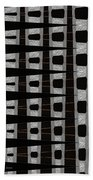 Metal Panel With Holes Abstract Beach Towel