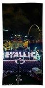 Metallica In Stl Beach Towel