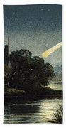 Meteor In Night Sky, 1868 Beach Towel